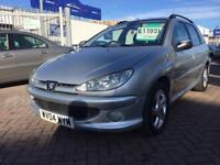 2004 04 PEUGEOT 206 SW ESTATE 1.6 LOW MILES WITH PART HISTORY SUPERB DRIVE GOOD CONDITION NEW MOT !