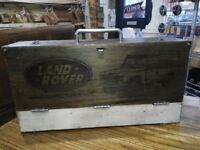 Laser Engraved, Fully Restored Land Rover ToolBox Requested.