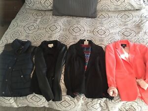 3 blazers and a vest