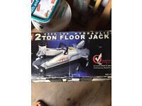 Trolly Jack/ Elec Saw n Drill/ Sink Drain pipe set.
