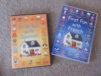 Educational Usbourne Learning Spanish / French Language DVD
