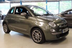 Fiat 500 BY DIESEL [PANO ROOF / LEATHER /BLUETOOTH] (smooth mint) 2010
