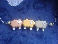 Retro baby sheep rattle