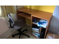 Small Desk and Ikea office chair