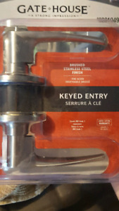 Unopened Keyed Entry Door Knob