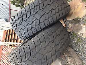 4  LT 35X12.50X20 TOYO OPEN COUNTRY 10 PLY M&S TIRES (35s)