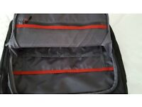 "Quality Rolling Wheeled Black Laptop Case For 14"" Laptop"