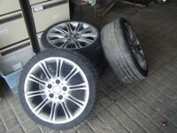 BMW 18 INCH ALLOY WHEELS 5 STUD STRAIGHT ALLOYS NO LEAKS NO OFFERS