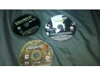 Three PlayStation 3 game's