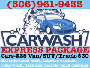 EXTERIOR HAND WASH $8!!! TAX INCLUDED!!!