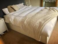 IKEA white double bed WITH mattress