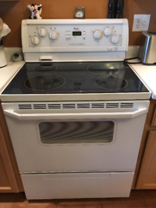 Whirlpool Glass Ceramic Top Electric Stove