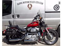 FABULOUS CONDITION 1997 HARLEY DAVIDSON XL883 HUGGER, SCREEN, BAGS, EXTRAS 11902 MILES
