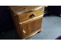 Wood pine. Bedside table