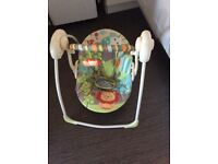 Bright starts baby swing up £25