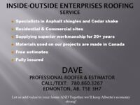 CALL INSIDE-OUTSIDE-ENTERPRISES FOR YOUR FREE ROOFING ESTIMATE!