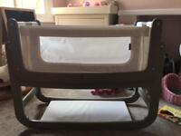 SnuzPod 2 bedside 3-in-1 crib in Putty colour