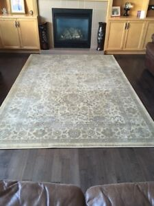 Brand New Costco Brown Shag Rug & Used Patterned Twilight Rug