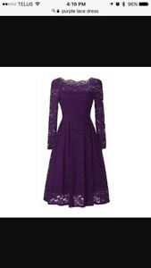 In search of purple lace dress