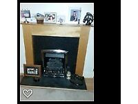 Gas Fire with surround Marble