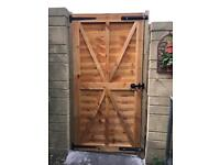 New wooden garden gates including installation £300