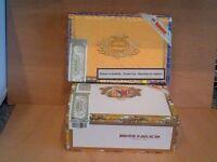 2 Empty Cigar Boxes for Guitars Ukeleles Trinket Boxes Ref 789