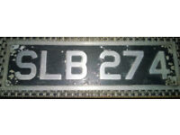 classic car registration plate
