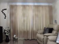 GOLD/BEIGE/BRONZE TYPE STRIPED CURTAINS FOR SALE