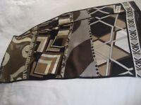 Scarf, 100% Silk Art Deco Graphic- Measures: 30cm x 132cm