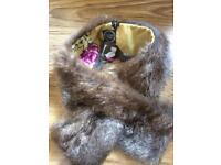 Joules Unworn Fake Fur Stole with tag
