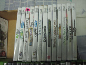 13 wii games 6 new and 7 used first $30 takes them all