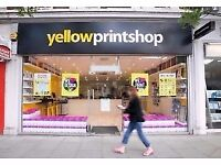 Part Time Team Member for Shepherds Bush Digital Print Shop 3-5 Days Per Week