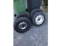 Berlingo and partner 175/65 14 wheels and new tyres