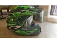 THH Motocross helmet and Oakley goggles