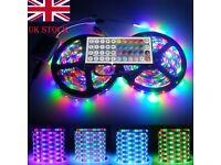 Non-Waterproof 10M 600 LED 3528 RGB SMD Strip Light 12V + Remote Controller + Power Supply Wedding