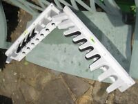 2 KETER WALL MOUNT GARDEN TOOL RACKS