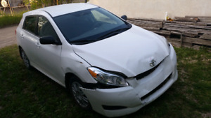 Toyota matrix 2014 damaged 48000 kms