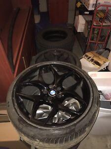 "BMW X6 rims 21"" with run flat tires"