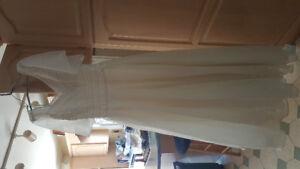 Full-length wedding dress