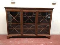 5ft long 1910s glass fronted bookcase