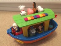 Lovely Noah's Ark musical toy and shape sorter - like new