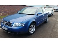 Audi A4GTTDI long mot service history cheap on fuel tax leather seat cd alloy big boot £695ono