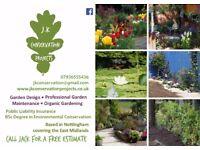 Gardener - Garden Design & Maintenance - Conservation & Organic Gardening