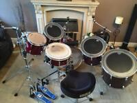 Sonor Force 3005, Full Maple, 6 Piece Drum Kit, INC Hardware & Cases