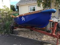 Day boat / tender, fully restored 2015, includes trailor
