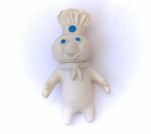 "Vintage 1971 Pillsbury Dough Boy Soft Rubber Squishy 7"" Doll Toy"