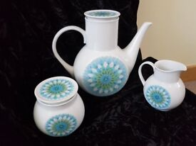 Noritake Coffee Pot, Lidded Sugar Bowl and Milk Jug - Balmaha Pattern - good condition