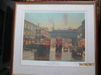 Signed print of twilight of the trams by Eric Bottomley