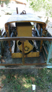 Straight six gm powered arc welder. Comes with swack of steel