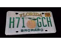 FLORIDA AMERICAN LICENSE NUMBER PLATE
